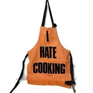 I Hate Cooking Vintage Apron Orange Retro Kitchen